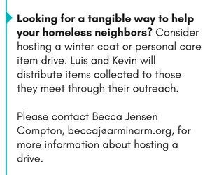 Host a drive to help homeless neighbors