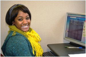 Natara, a Harvesting Hope grad, went on to a retail position.