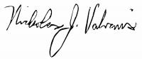 Nick Valvanis Full Signature